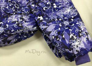 """Зимний комбинезон McDog """"Фиолетовые цветы"""" для собак"""