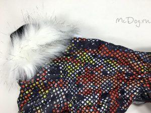 Зимний мембранный комбинезон McDog «Красные пиксели»
