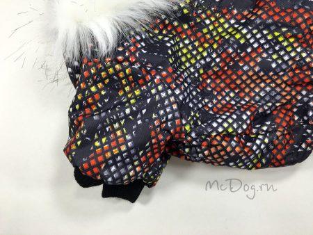"""Зимний мембранный комбинезон McDog """"Красные пиксели"""" для собак"""