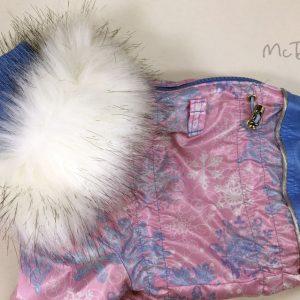 Зимний комбинезон McDog «Розовые снежинки»