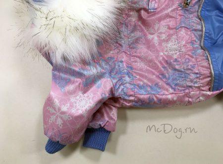 """Зимний комбинезон McDog """"Розовые снежинки"""" для собак"""