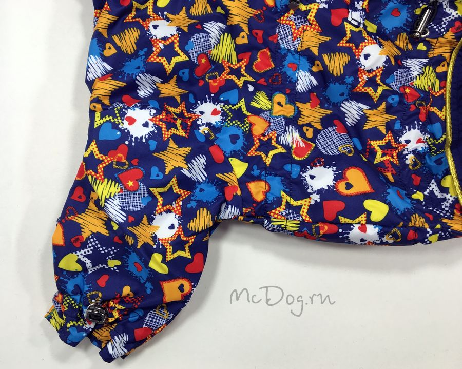 """Комбинезон McDog для собак """"Синие звезды с синим"""" на кнопке"""