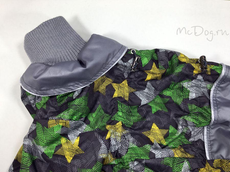 """Комбинезон для собак McDog """"Зеленые звезды с серым"""""""