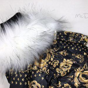 Зимний комбинезон McDog «Золотая роспись с черным»