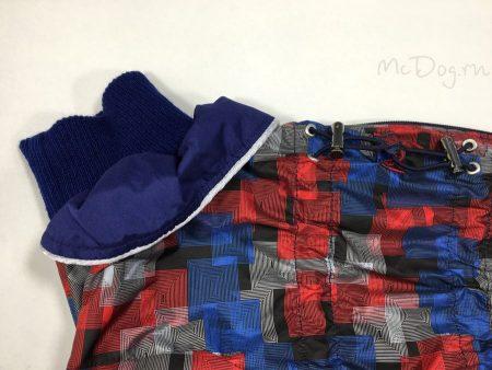 """Комбинезон для собак McDog """"Красная клетка с синим"""""""