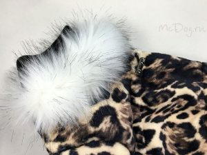 Зимний флисовый комбинезон McDog «Леопард»