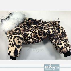 """Зимний флисовый комбинезон для собак McDog """"Леопард"""""""