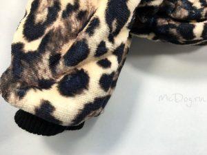 """Зимний флисовый комбинезон для собак McDog """"Леопард"""" без воротника"""