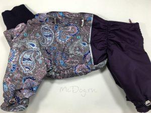 Комбинезон для собак McDog «Фиолетовые огурцы»
