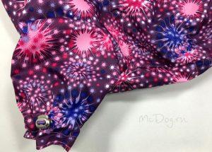 """Зимний мембранный комбинезон для собак McDog """"Розовый салют"""" на кнопке"""