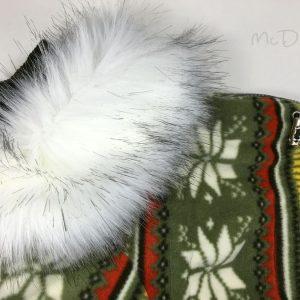 Зимний флисовый комбинезон McDog «Зеленые снежинки»