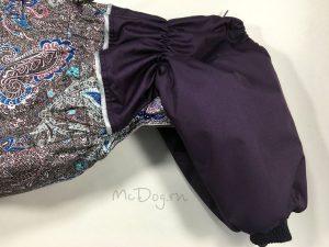 """Зимний комбинезон для собак McDog """"Фиолетовые огурцы"""""""
