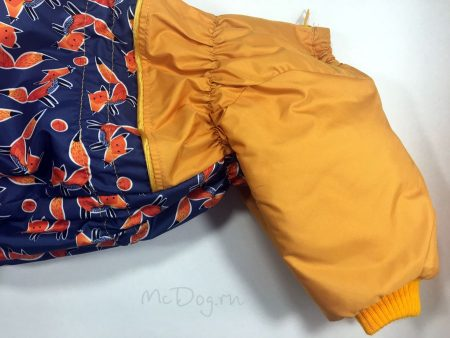 """Зимний комбинезон для собак McDog """"Лиса апельсин"""""""