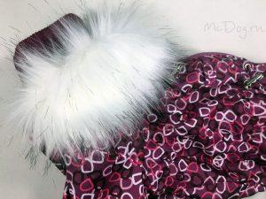 Зимний комбинезон McDog «Полукольца» с меховым воротником