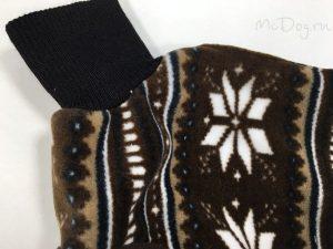 Комбинезон флисовый McDog «Коричневые снежинки»