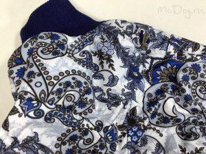 Зимний комбинезон McDog «Зимние цветы с васильком» без мехового воротника