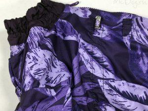 Зимний комбинезон McDog «Фиолетовые листья с фиолетовым» на кнопке