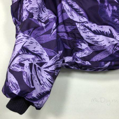 """Зимний комбинезон McDog """"Фиолетовые листья с фиолетовым"""" на кнопке"""