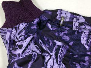 Зимний комбинезон McDog «Фиолетовые листья» без мехового воротника