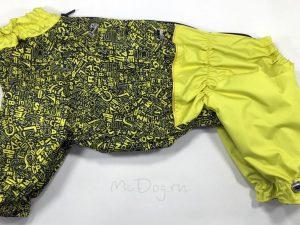 Комбинезон McDog «Алфавит с желтым» на кнопке