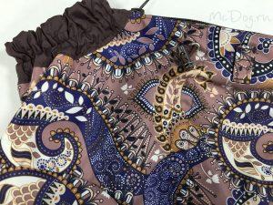 Комбинезон McDog «Какао огурцы с коричневым» на кнопке мембранный с плащевкой
