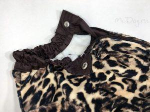 Зимний флисовый комбинезон McDog «Леопард» на кнопке
