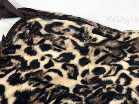 """Зимний флисовый комбинезон для собак """"Леопард"""" на кнопке"""