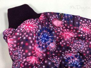 Зимний мембранный комбинезон McDog «Розовый салют» без мехового воротника