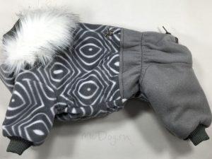 Зимний флисовый комбинезон McDog «Серая волна с серым»