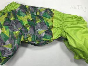 Комбинезон McDog «Зеленые стрелки с салатовым» на кнопке мембранный с плащевкой