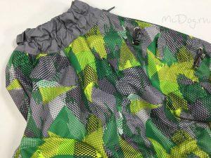 Комбинезон McDog «Зеленые стрелки с серым» на кнопке мембранный с плащевкой