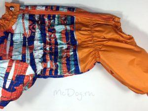 Зимний комбинезон McDog «Арт с оранжевым» на кнопке