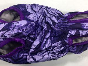 Жилет McDog «Фиолетовые листья» на кнопке (безрукавка)