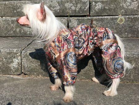 Пыльник шелковый для собак (пижамка)