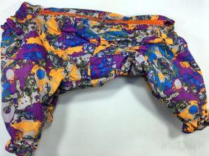 Комбинезон McDog «Фиолетовый Urban» на кнопке мембранный