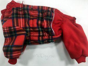 Комбинезон флисовый McDog «Красная клетка»