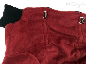 Комбинезон флисовый McDog «Плюш бордо»